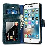 Labato Handytasche iPhone 6 6s Schutzhülle aus Echt Leder Hülle Bookstyle i Phone 6 6s blau Lbt-I6S-07Z46