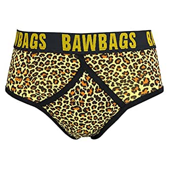 """BawBags Leopard Y Fronts - Yellow - XS / 25-27"""""""