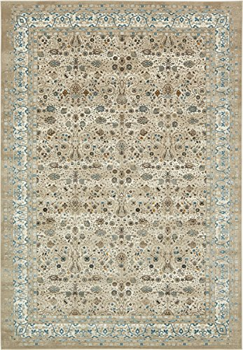 Moderne Country Traditionelle Cambridge modernes Bereich Teppich, taupe, 8 x 11 (8x10 Taupe Bereich)