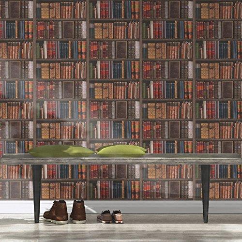 Rasch Bibliothek Bücher Tapete–934809 - 3