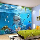 BZDHWWH Benutzerdefinierte 3D Wandbild Tapete Kinder Zimmer Wandverkleidung Tapete 3D Stereo Meer Welt 3D Kind Foto Wallpaper Home Decor,250cm (H) x 375cm (W)