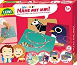 Lena 42633 - My First Bastelset Nähe mit mir Zootiere, Komplettset mit 8 lustigen Tieren aus Pappe zum Ausnähen und farbige Schnüre, mein erstes Nähset für Kinder ab 3 Jahre