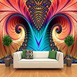 Lsfhb Foto Murali Personalizzate Carta Da Parati Non Tessute 3D Art Abstract Pattern Colore Carving Living Room Tv Sfondo Wall Decor Wallpapers-350X250Cm