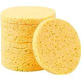 10 Pezzi Spugnette Viso Pulizia, 8cm Spugna Detergente Viso in Cellulosa, Cosmetico Bellezza Soffio Spugna, Struccante Rimozi