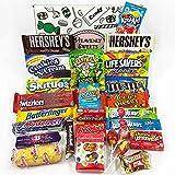 Großer Amerikanische Süßigkeiten Geschenkkorb | Süßigkeiten aus den USA | Auswahl beinhaltet M&M, Hersheys, Reeses, Jelly Belly, Skittles | 26 Produkte in einer tollen retro Geschenkebox