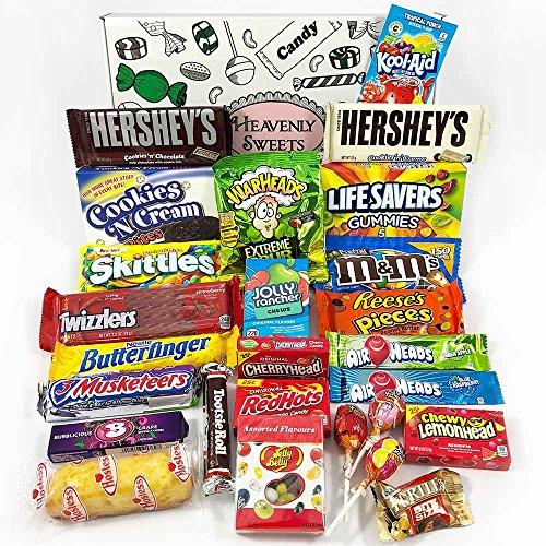 Preisvergleich Produktbild Großer Amerikanische Süßigkeiten Geschenkkorb / Süßigkeiten aus den USA / Auswahl beinhaltet Hersheys,  Reeses,  Jelly Belly,  Jolly Rancher / 27 Produkte in einer tollen retro Geschenkebox