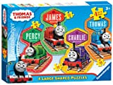 Thomas the Tank Engine - 4 Friends (10, 12, 14, 16 PC Shaped Puzzles)