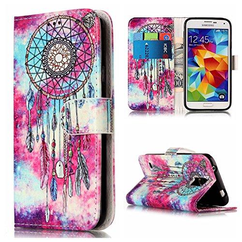 Nancen Compatible with Handyhülle Galaxy S5 / I9600 SM-G900F (5,1 Zoll) Hülle, Flip-Case PU Leder Handytasche - Praktisches Design mit Magnetverschluss Standfunktion Brieftasche (Case Galaxy Samsung S5 London)