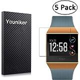 Youniker 5 Pack voor Fitbit Ionic Screen Protector voor Fitbit Ionic Screen Protector Folies Crystal Clear HD, Volledige dekk
