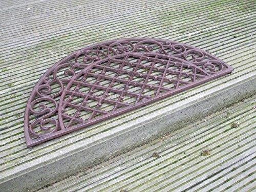 Dekorativer Fußabtreter, Fußmatte,Türmatte,halbrund,Gusseisen,68x34 cm