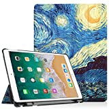 Fintie iPad Pro 10.5 Funda con Apple Pencil Holder - Súper Thin Smart Funda Carcasa con Stand Función y Auto-Sueño/Estela para Apple iPad Pro 10.5 Pulgadas 2017 Versión Tableta, Starry Night