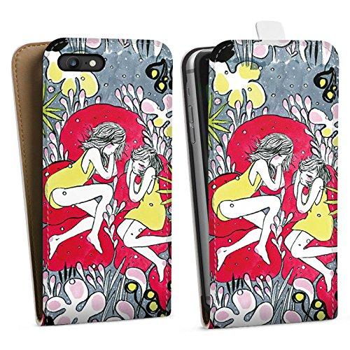 Apple iPhone X Silikon Hülle Case Schutzhülle Träumer Mädchen Frauen Downflip Tasche weiß