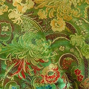 G106 coupon de tissu de brocart soie au broderie fine - par mètre - Patchwork couture F