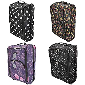 Cabin Hand Luggage Trolley Bag Small Travel Flight Suitcase Holdall Wheeled Super Tough Polyester Lightweight 44l Storage from Sabar