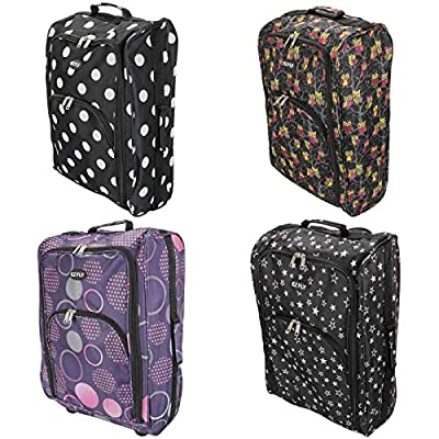 Cabin Hand Luggage Trolley Bag Small Travel Flight Suitcase Holdall Wheeled Super Tough Polyester Lightweight 44l Storage - cheap UK light shop.