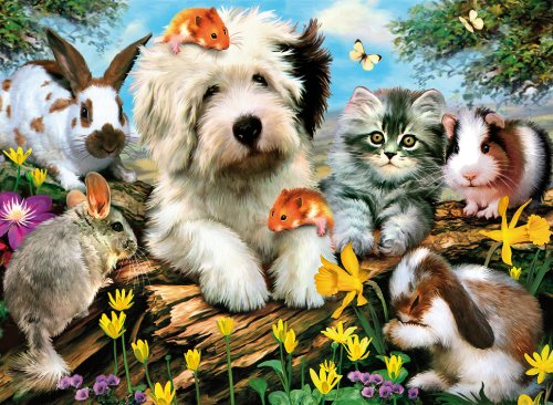 Clementoni Puzzle 30286 - Furry Friends - 500 pezzi High Quality Collection