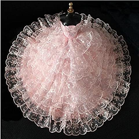 Youvinson Herrliche handgemachte Kleidungen gemacht für Barbie-Puppen (Rosa)