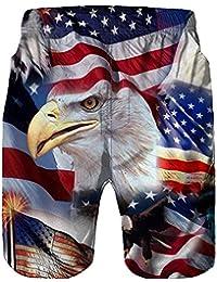 JUTOO 2019 Pantalones de playaHombres Casual 3D Águila Impreso Trabajo en la Playa Casual Hombres Pantalones Cortos Pantalones Cortos