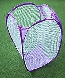 3 Stück faltbar-es-Wäsche-Korb-Box-Netz Farbe Wäschesmmler bunt gemischt vom Sachsen Versand