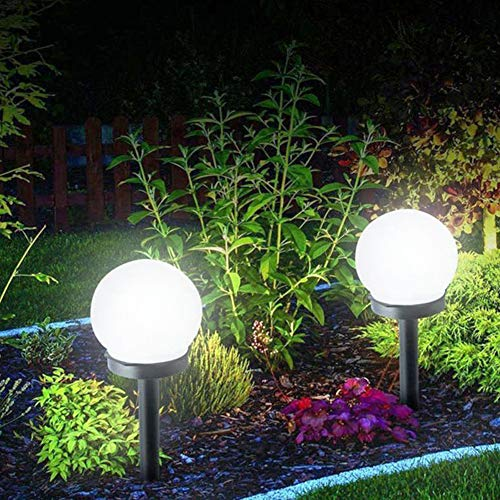 Forart 2 stücke Garten Solarleuchten Outdoor Solarbetriebene LED-Licht Kugelform Rasen Lampe Lampe für Garten Terrasse Hinterhof Pathway Dekoration