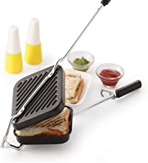 Warmeo Grill And Toast Sandwich Maker With Non-Stick Cookware, 1 Piece, Black.