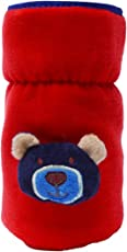 GURU KRIPA Baby Products ® Presents Philips Avent 260Ml to 330ML Bottle Plush Stretchable Baby Feeding Bottle Cover with Handle (Red)