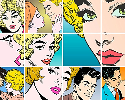 ohpopsi Couples Kissing Pop Art Wall Mural