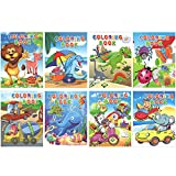 Best Toddler Boy Books - Party Propz Coloring Books Pack of 8 Review