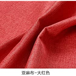 ReYQing Tissu Lisse Sans Couture Tissu Pur Lin Rouge Vif,
