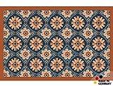 matches21 Fußmatte Fußabstreifer Flat Motiv Retro Fliesenmuster Terra 44x67 cm Flache Textil Oberfläche maschinenwaschbar Flur Teppich