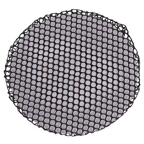 Justfox - rete per capelli dutt, rete per acconciature, rete per nodi, a maglia fine, colore: nero
