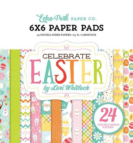 Echo Park Paper Company ce121023Feiern Ostern 6x 6Papier Pad