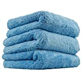 Chemical Guys Mic35003 Happy End Edgeless Serviette en Microfibre, Bleu (16 in. X 16 en.) (Lot de 3)