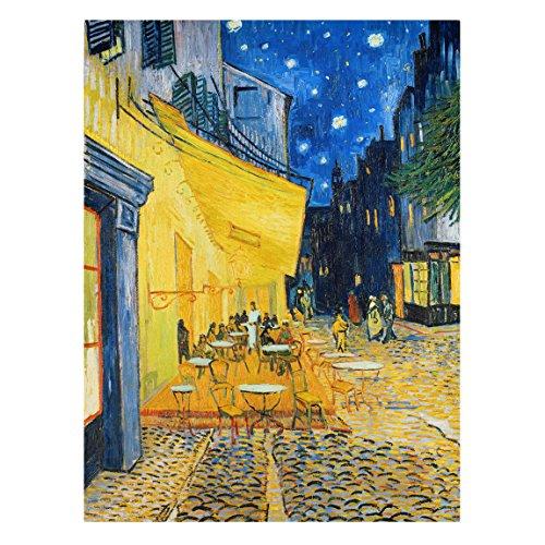 Bilderwelten Leinwandbild - Vincent Van Gogh - Café-Terrasse am Abend in Arles - Hoch 4: 3, Größe HxB: 80cm x 60cm