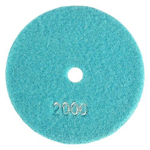 5inch /125mm Nass Diamant Polierkissen Stein Schleifscheibe Polierpad Scheibe Grit für Granit Marmor Beton Stein Polieren Polischin Satz(2000)
