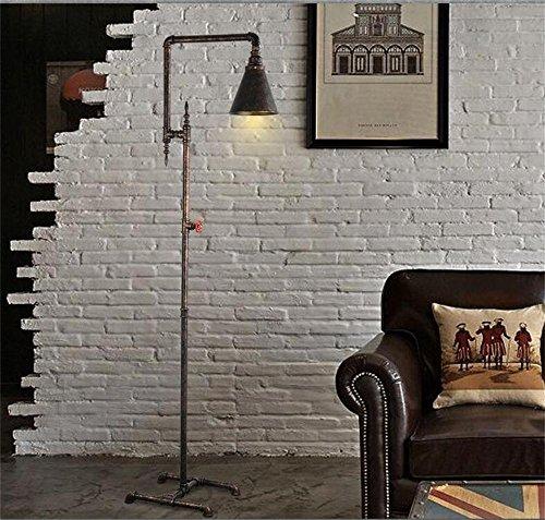 Lampe sur pied en éclairage doux --- Américains rétro tuyaux de fer industriels den plancher du salon lampe chambre bar Continental lampe de table idées de décoration de sol --- Lampe verticale au sol
