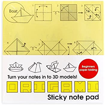 Suck Uk Origami Sticky Notes Amazon Office Products