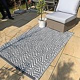 In- und Outdoor Teppich Rhombs 180 x 120 cm Muster Teppiche Terrasse Balkon