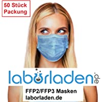 Rongdu LTD 50 Stück Einweg 3-lagig Staubschutz Infektionsschutz mit Ohrschlaufen schützt vor Verschmutzungen