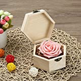 Portable Hexagonal Shaped Wooden Storage Box Jewelry Box Wedding Gift Box Holder