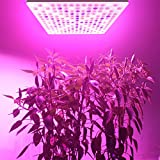 ICOCO LED Grow Light 50W 225 LED White Red Blue Light For Garden Greenhouse Indoor Hydroponic Plant Growing Lamps Hanging Grow Light Panel [Energy Class A+]