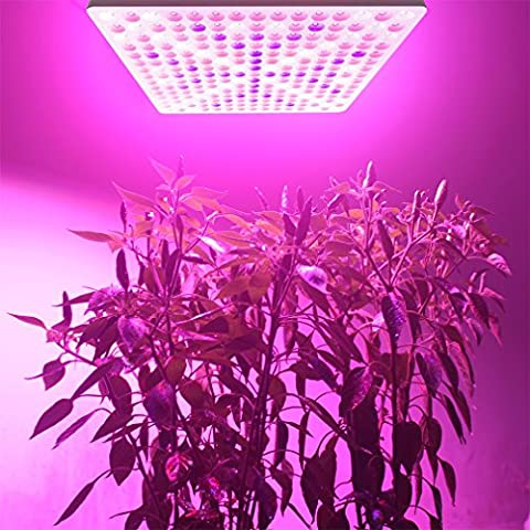 ICOCO LED Grow Light 50W 225 LED White Red Blue Light For Garden Greenhouse Indoor Hydroponic Plant Growing Lamps Hanging Grow Light Panel [Energy Class