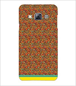 PrintDhaba Shapes Pattern D-1505 Back Case Cover for SAMSUNG GALAXY A3 (Multi-Coloured)