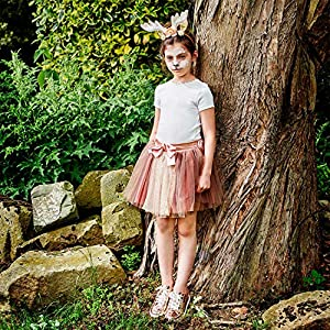 Amscan - Vestido de Faw-ML Fawn Tutu con diadema vestido, niña, color no sólido, mediano/grande