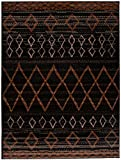 Carpeto Rugs Tapis Salon Marron foncé 160 x 220 cm Oriental Geometrique/Dijon Collection