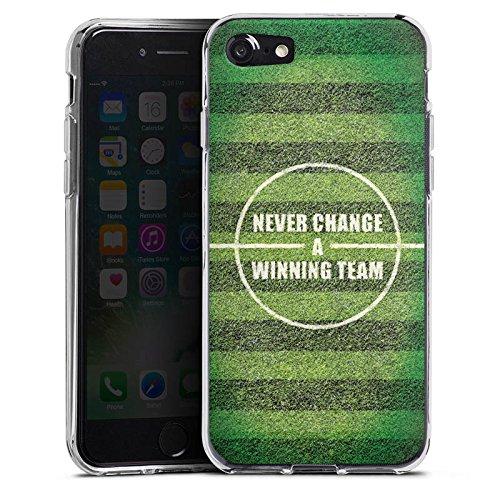Apple iPhone 4 Silikon Hülle Case Schutzhülle fussball fußball spruch Silikon Case transparent