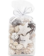 Deco aro Pine & Cone Potpourri - 200 GMS - Waterlily Fragranced Packed in a Poly Pouch