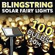Blingstring Outdoor Solar Fairy Lights - Warm White 100 LEDs