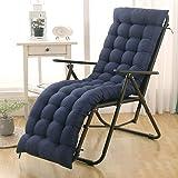 DUCHEN - Cojín grueso y largo para tumbona reclinable con respaldo, colchoneta para sillas de jardín, asientos reclinables y