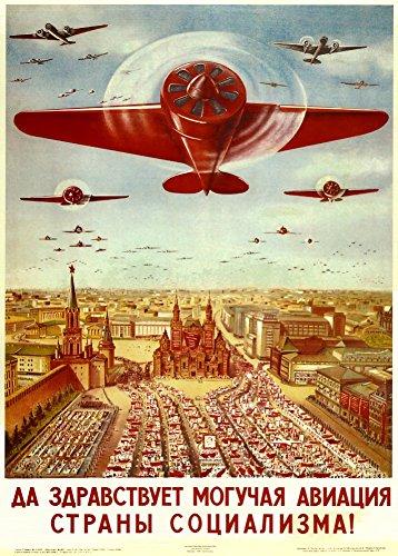 World of Art Kunstdruck/Poster, russischer Konstruktivismus, Vintage-Stil, Motiv 'Lang lebe die...